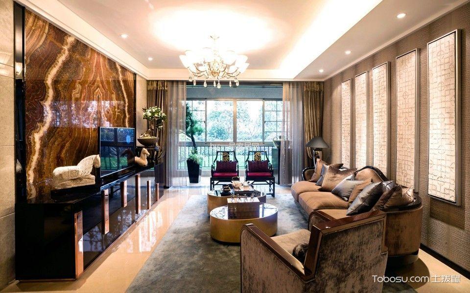 翔龙江畔三居室新中式风格