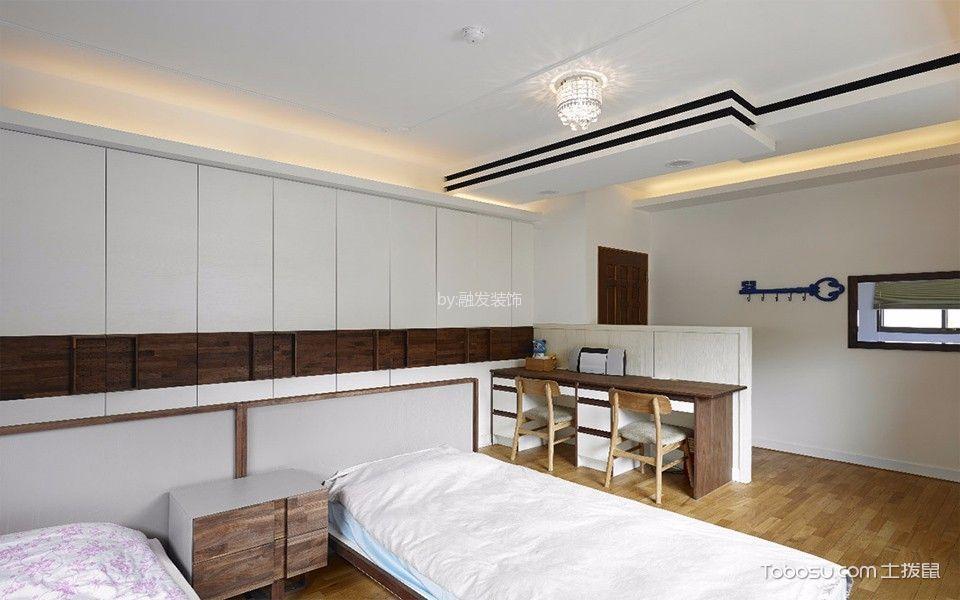 卧室咖啡色床头柜中式古典风格装修设计图片