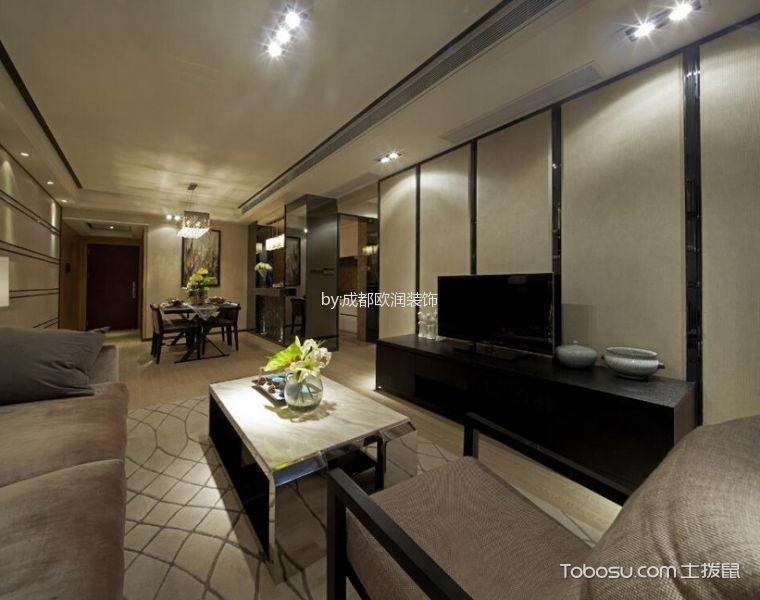 客厅黑色电视柜现代简约风格装饰效果图