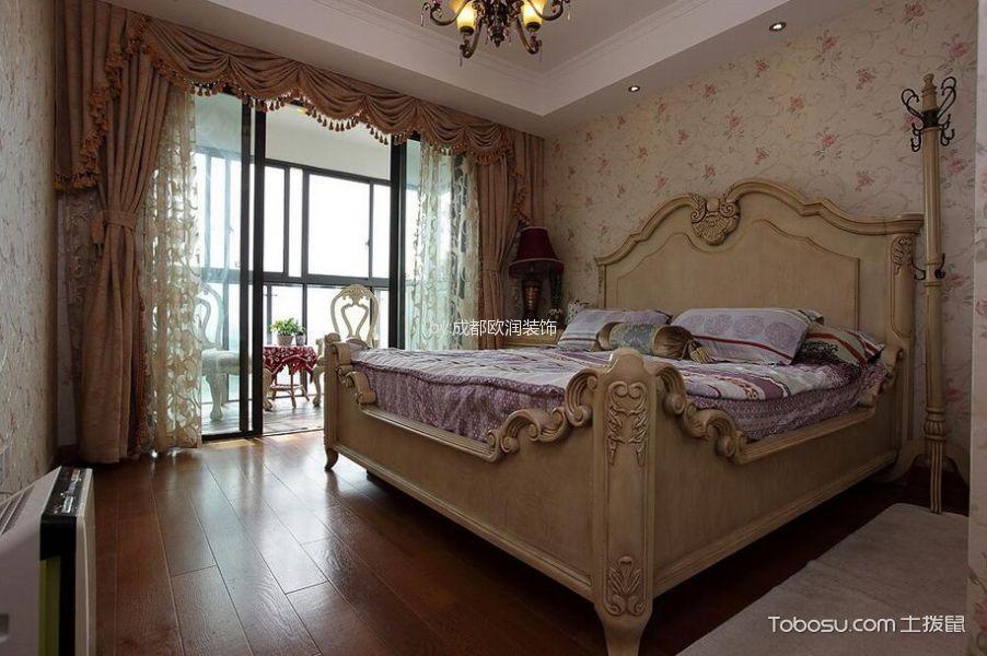 2018美式卧室装修设计图片 2018美式床装修效果图片