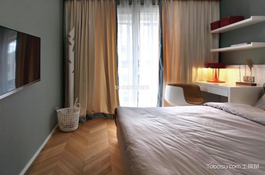 2018现代简约卧室装修设计图片 2018现代简约窗帘装修效果图片