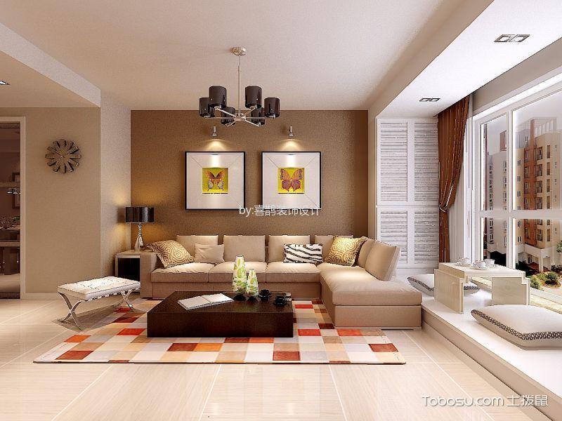 静安公寓简约二居室效果图