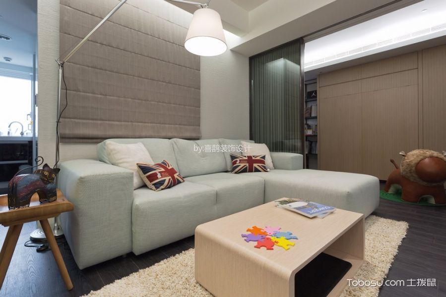 绿庭尚城简约两居室效果图