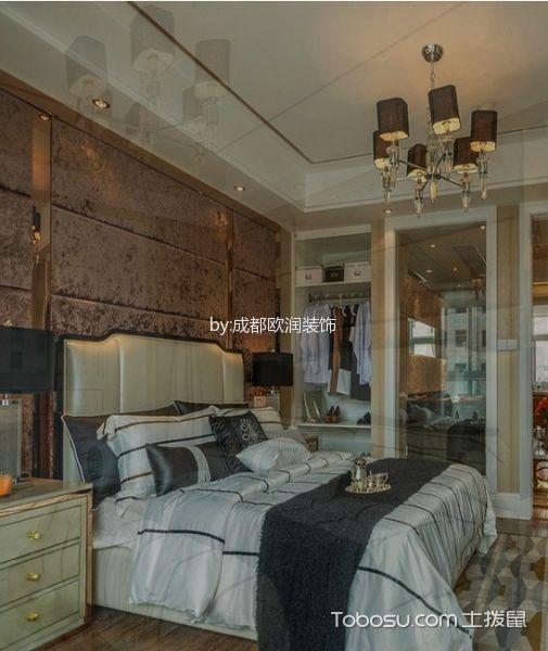 卧室白色床简欧风格装修效果图