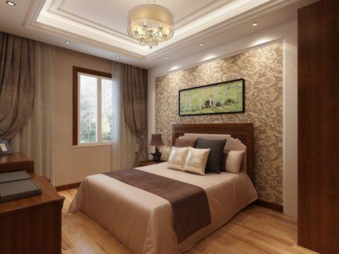 卧室黄色背景墙设计效果图