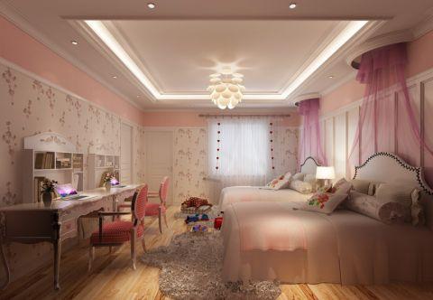 卧室背景墙新中式效果图图片