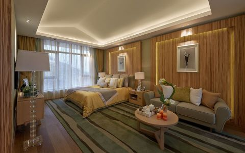 现代卧室窗帘图片