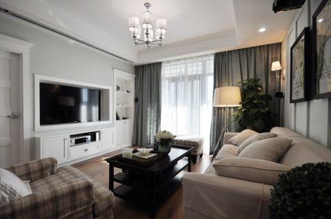 客厅白色吊顶现代风格装修效果图