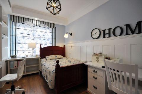 卧室紫色背景墙现代风格装修图片