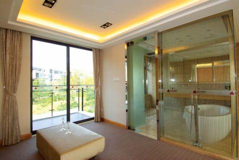 卫生间米色窗帘田园风格装饰设计图片