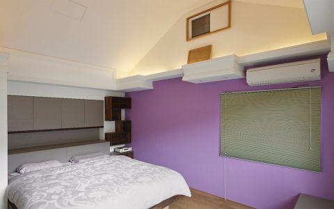 卧室灰色床中式古典风格装饰图片