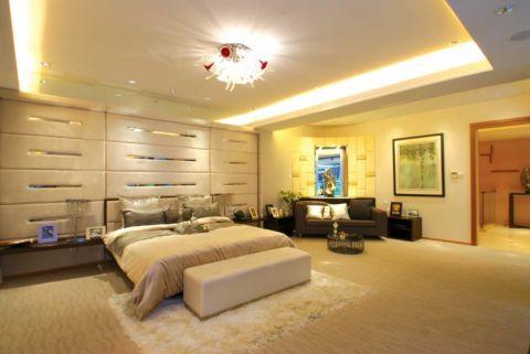 卧室白色吊顶田园风格装修效果图