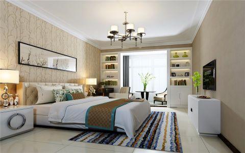 卧室白色照片墙简约风格装饰图片