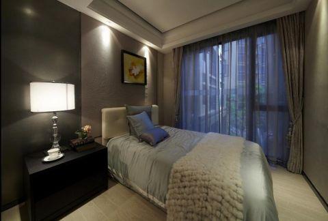 卧室黑色床头柜现代简约风格装修图片