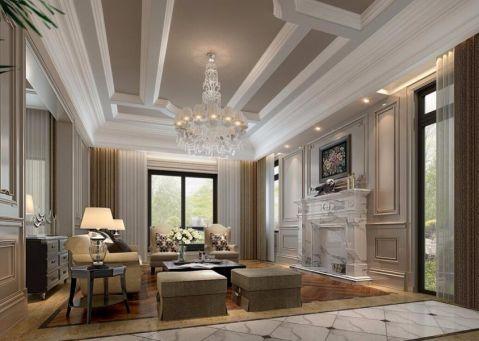 客厅白色背景墙装潢效果图
