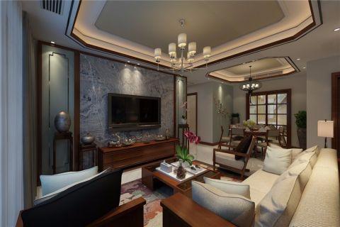 客厅咖啡色吊顶装潢设计图片
