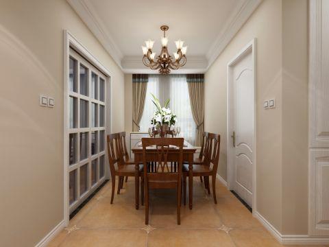 餐厅白色推拉门现代简约风格装潢图片