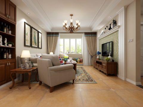 客厅米色照片墙现代简约风格装饰设计图片
