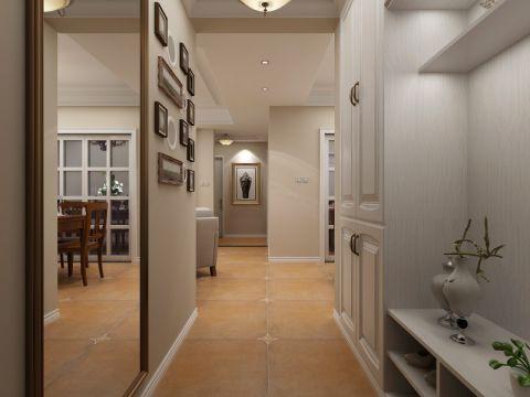 玄关白色走廊现代简约风格装潢设计图片