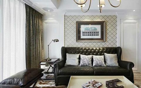客厅米色背景墙装饰实景图