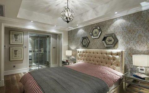 卧室背景墙美式装饰设计图片