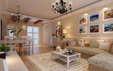 质朴米色客厅装修案例效果图
