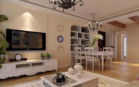 典丽矞皇客厅背景墙装饰实景图片