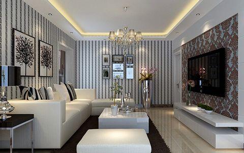 2018现代简约客厅装修设计 2018现代简约照片墙效果图