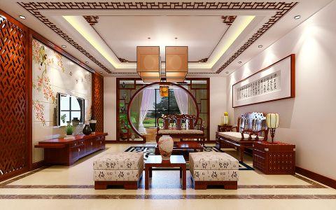 深圳东海国际公寓中式装修案例