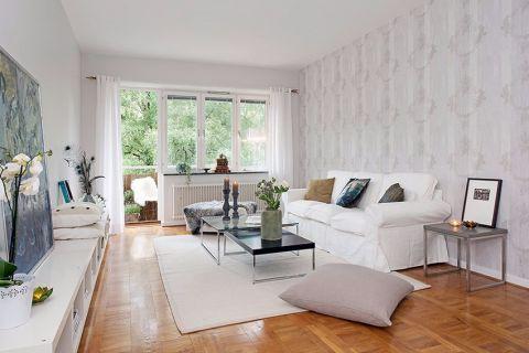 优雅欧式白色背景墙设计图