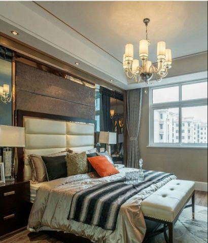 卧室白色吊顶简欧风格装饰效果图