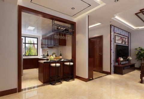 厨房背景墙中式风格装饰设计图片