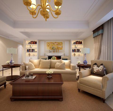 客厅走廊美式风格装饰设计图片