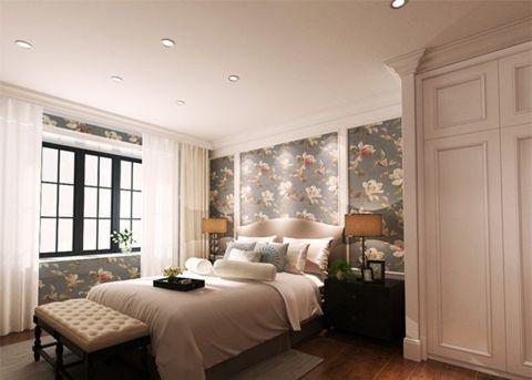 田园卧室窗帘装饰图
