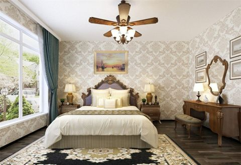 创意蓝色卧室图片