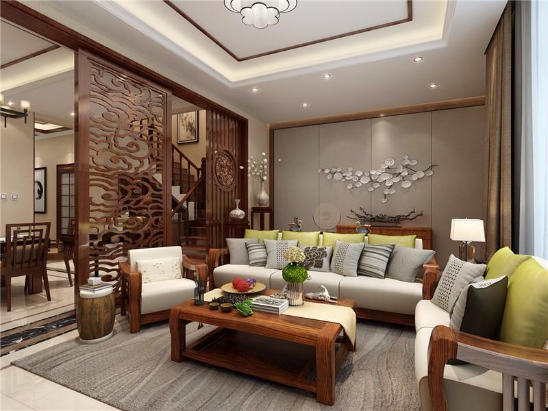2室1卫2厅200平米中式风格