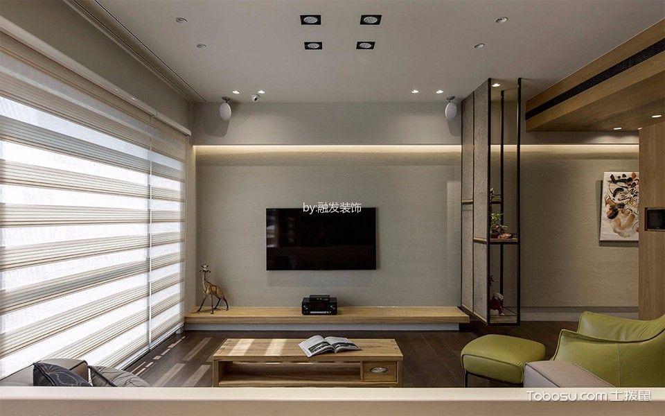客厅黄色茶几现代风格装饰效果图