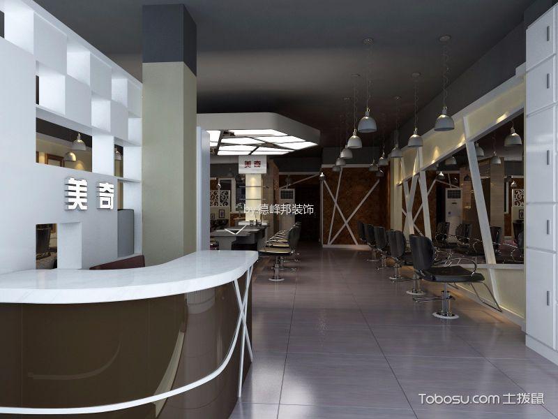 120平米美发店吧台装饰效果图欣赏