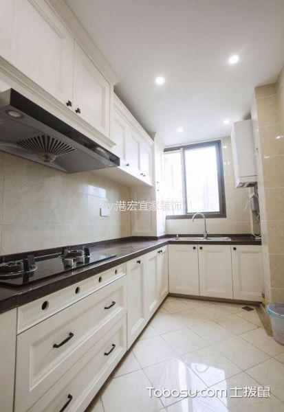 厨房白色隔断北欧风格装饰效果图