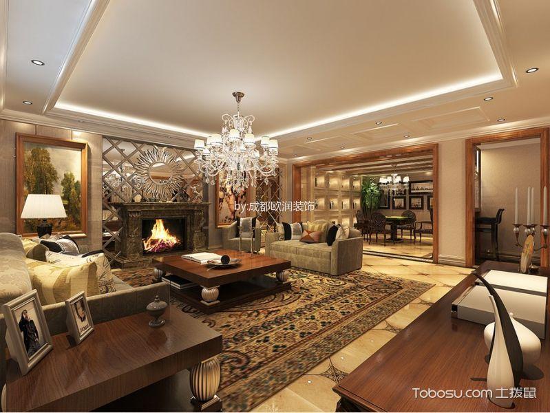 客厅灯具美式装修美图