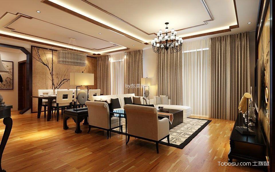 2018新中式客厅装修设计 2018新中式吊顶设计图片