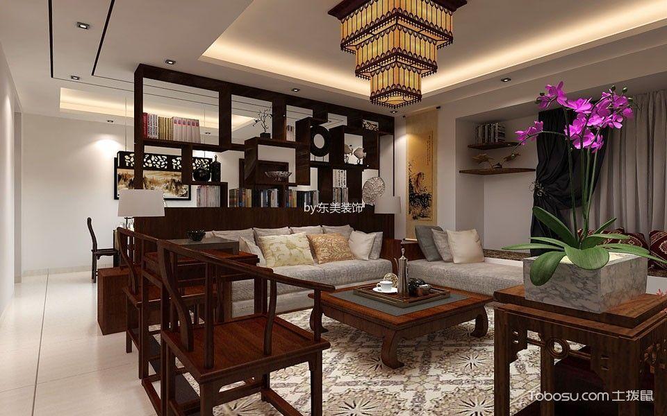 2019中式客厅装修设计 2019中式茶几效果图