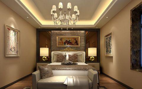卧室米色吊顶欧式风格装潢图片