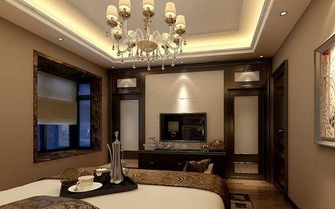 卧室白色背景墙欧式风格装修设计图片