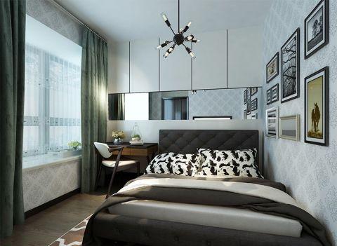 卧室白色吊顶现代简约风格装饰效果图