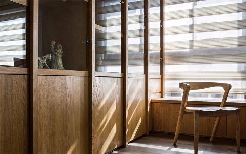 书房咖啡色飘窗现代风格装修效果图