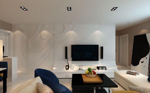 客厅米色走廊现代风格装修设计图片