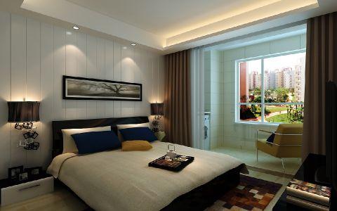 卧室米色窗台现代风格装潢设计图片