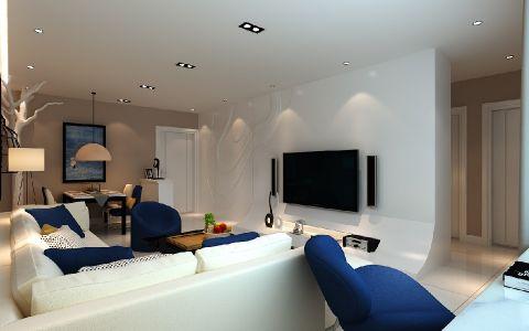 客厅米色门厅现代风格效果图