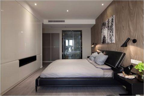 卧室黑色照片墙新中式风格装潢效果图
